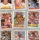 1984 Donruss Baseball Lot of 125 Cards Stars Rookies