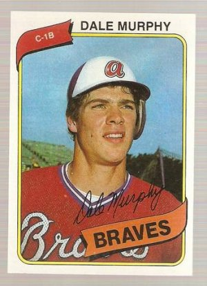 1980 Topps Baseball Card #274 Dale Murphy Atlanta Braves NM