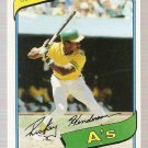 1980 Topps Baseball Card #482 Rickey Henderson RC EX-MT