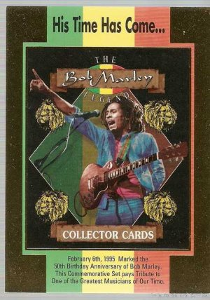 Bob Marley Legend Promo Card His Time Has Come