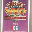 Doctor Who Promo Card #A1 Logo Cornerstone 1994