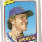 1980 Topps Baseball Card #265 Robin Yount NM