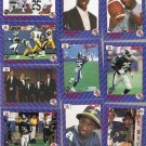 Lot of 33 1991 All World CFL Rocket Ismail Cards