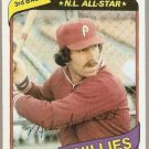 1980 Topps Baseball Card #270 Mike Schmidt Phillies EX A
