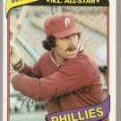 1980 Topps Baseball Card #270 Mike Schmidt Phillies EX B