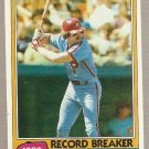 1981 Topps Baseball Card #206 Mike Schmidt Record Breaker Phillies EX A