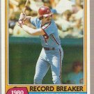 1981 Topps Baseball Card #206 Mike Schmidt Record Breaker Phillies EX B