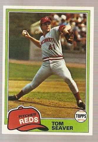 1981 Topps Baseball Card #220 Tom Seaver NM B