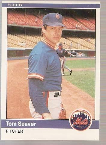 1984 Fleer Baseball Card #595 Tom Seaver NM or better B