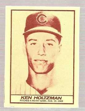 1971 Milk Duds Baseball Card #47 Ken Holtzman Chicagoi Cubs