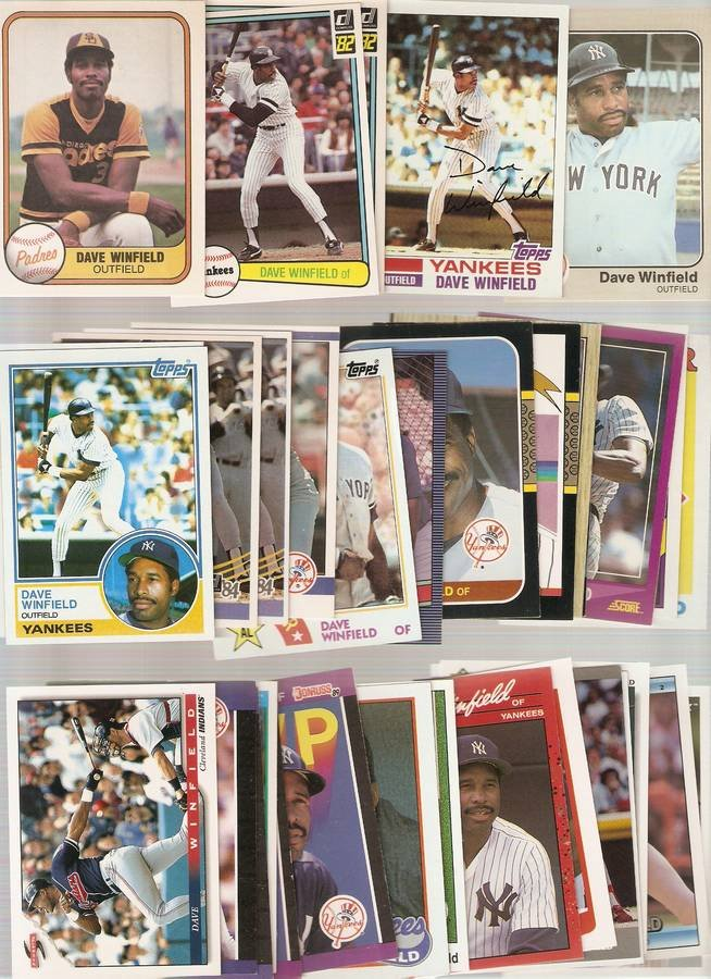 Lot of 35 Dave Winfield Baseball Cards Padres Yankees C