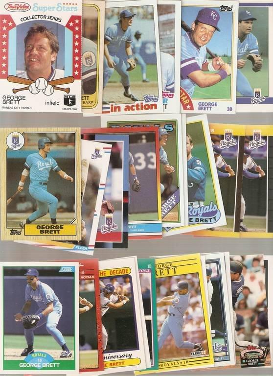 Lot of 26 George Brett Baseball Cards Royals A