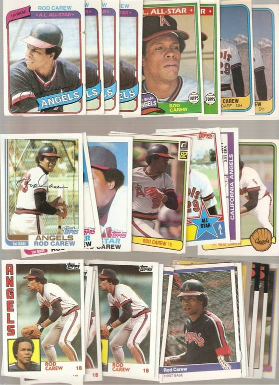 Lot of 30 Rod Carew Baseball Cards Angels