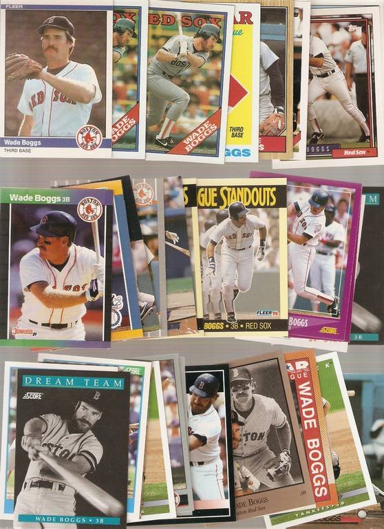 Lot of 35 Wade Boggs Baseball Cards Red Sox