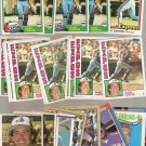 Lot of 25 Gary Carter Baseball Cards Expos Mets