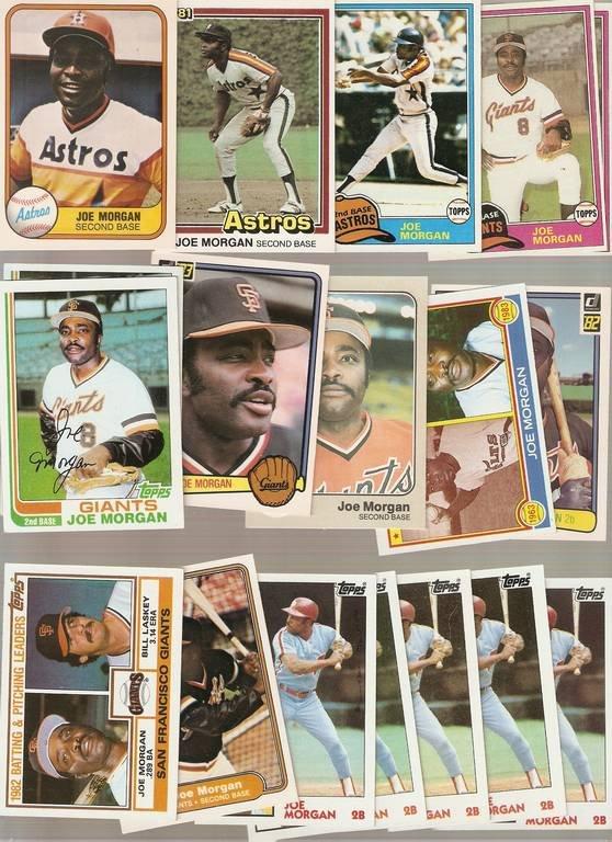 Lot of 18 Joe Morgan Baseball Cards Astros Phillies