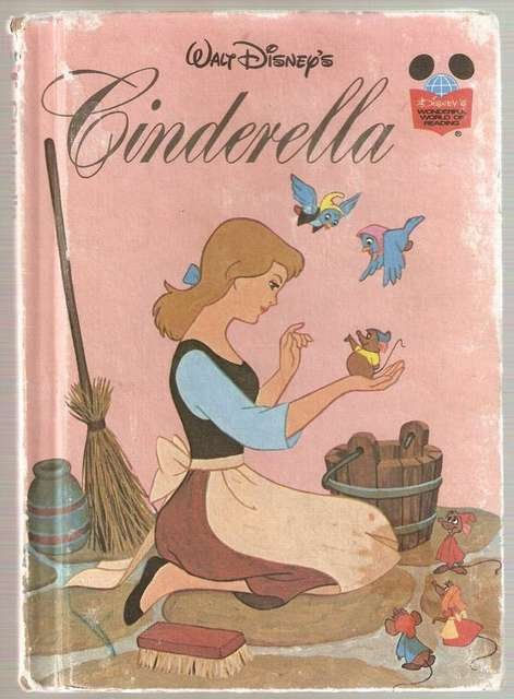 Walt Disney's Cinderella Disney's Wonderful World of Reading 1974 Hardcover 3rd Printing Smaller