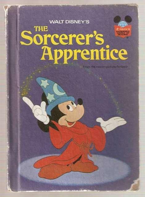 Walt Disney's Sorcerer's Apprentice Disney's Wonderful World of Reading 1973 Hardcover Smaller