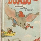 Walt Disney's Dumbo the Flying Elephant Land Sea Air Wonderful World of Reading HC Book Used