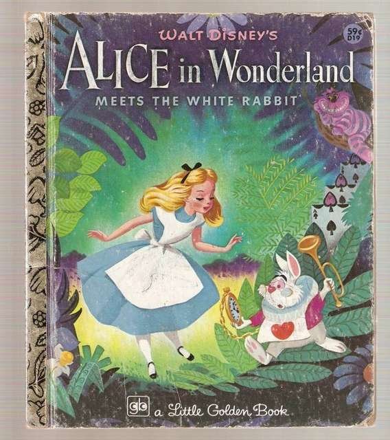 Alice in Wonderland Meets the White Rabbit Little Golden Books Book 1978 Ninth Printing