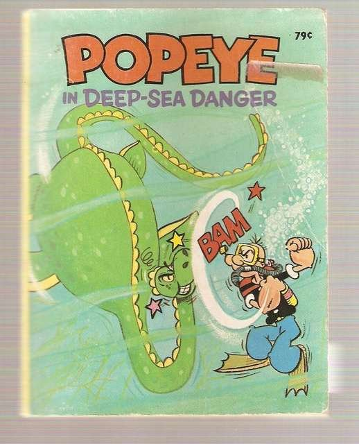 Popeye in Deep-Sea Danger Big Little Book 1980