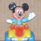 Mickey Mouse Collectible Die-Cast Car and PVC Figure Arco Loose Used