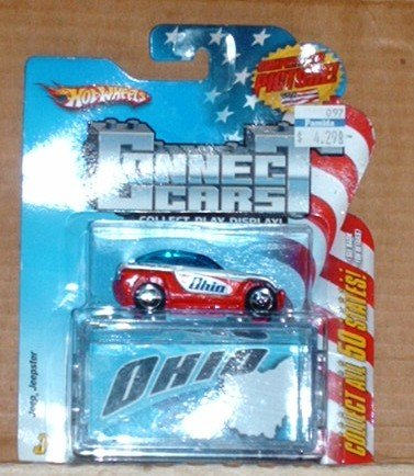 Hot Wheels 2009 Connect Cars #17 Ohio Jeep Jeepster