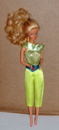 Barbie Doll with Green-Yellow Jumpsuit