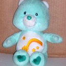 "Care Bear Wish Bear 2002 8"" Play Along Plush"