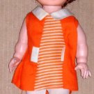 Vintage Eegee Doll with Orange and White Dress