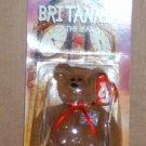 McDonalds Teenie Beanie Babies Britannia the Bear in Package  Happy Meal B