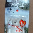 McDonalds Teenie Beanie Babies Maple the Bear in Package Happy Meal B