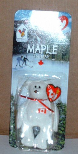 McDonalds Teenie Beanie Babies Maple the Bear in Package Happy Meal B