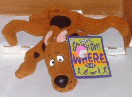 Scooby Doo Where R-U? Bean Bag Toy Cartoon Network Applause Plush Stuffed