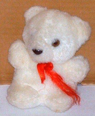 "Manley Toys 4 1/2"" White Teddy Bear"