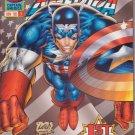 Captain America (1996) #1 Flag Cover Marvel Comics Nov. 1996 VF