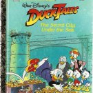 Walt Disney's Duck Tales The Secret City Under the Sea Little Golden Books 1992