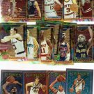 1993-94 and 1995-96 Topps Finest Basketball Lot of 17 Cards