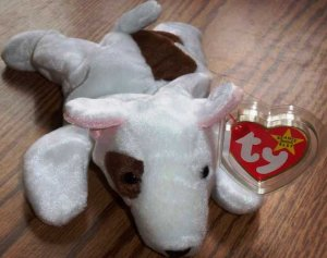 TY Beanie Babies Butch the Bull Terrier Dog