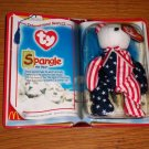TY McDonald's Teenie Beanie Babies International Bear II Spangle