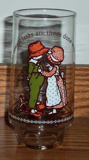 Vintage Holly Hobbie Happy Talk Coca-Cola Limited Edition Glass Easiest Tasks