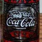 Vintage Coca-Cola Drinking Glass Stained Glass Pattern