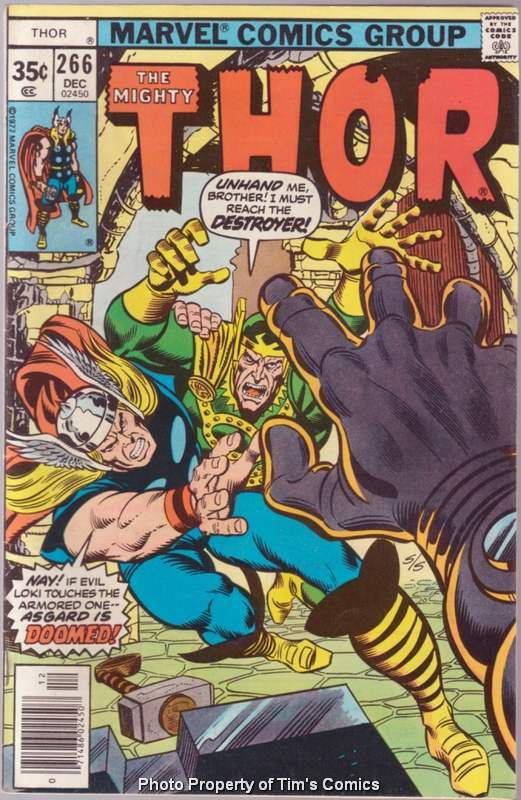 Thor (1966 series) #266 Marvel Comics Dec 1977 Good