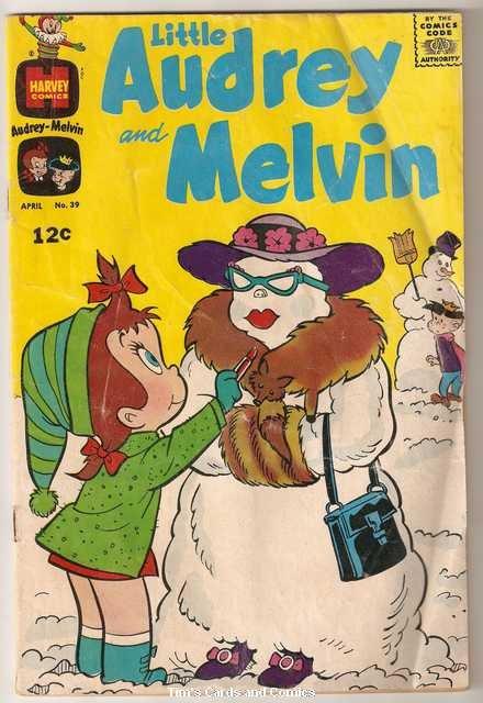 Little Audrey and Melvin #39 Harvey Comics April 1969 Fair