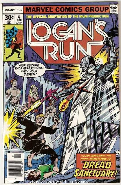 Logan's Run (1977 series) #4 Marvel Comics April 1977 FN