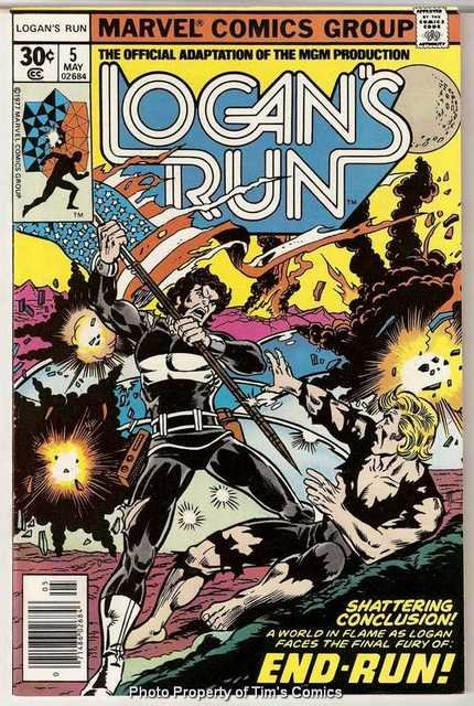 Logan's Run (1977 series) #5 Marvel Comics May 1977 FN