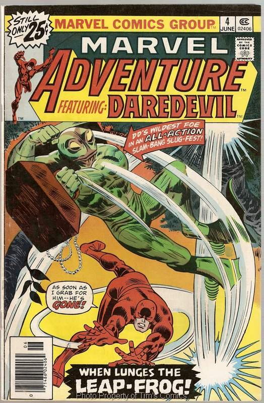 Marvel Adventure (1975 series) #4 Featuring Dardevil Marvel Comics June 1976 VG
