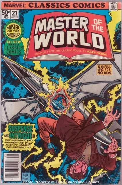 Marvel Classic Comics (1977 series) #21 Master of the World Marvel Comics Sept. 1977 GD