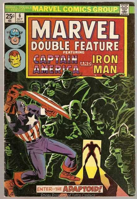 Marvel Double Feature (1973 series) #17 Captain America Iron Man Marvel Comics Aug. 1976 GD