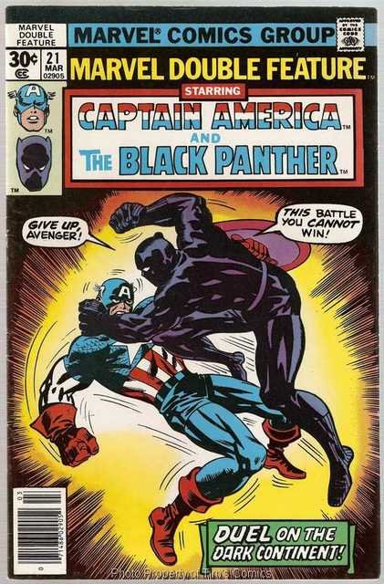 Marvel Double Feature (1973 series) #21 Captain America Black Panther Marvel Comics March 1977 VG